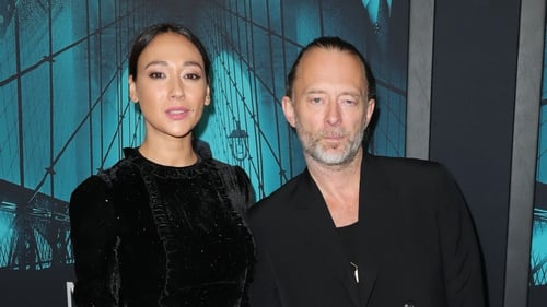 Thom Yorke pictured with actress Dajana Roncione in 2019
