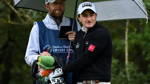 Paul Dunne opened his second round with back-to-back birdies