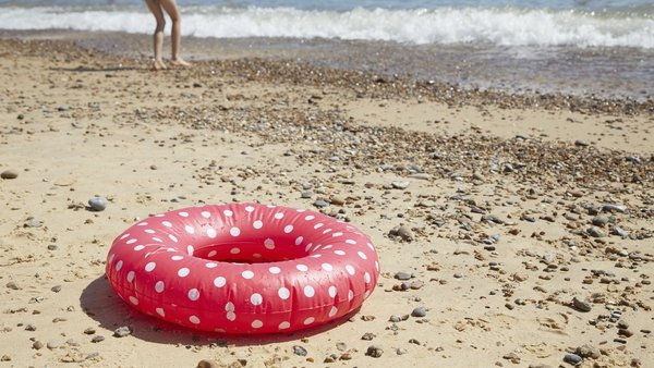 The use of inflatable rings, flamingos, beds and other items have become popular on Irish beaches as people holidayed at home due to Covid-19