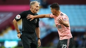 The Republic of Ireland internationalmisses out because of his 12th-minute dismissal in the 1-0 defeat at Aston Villa