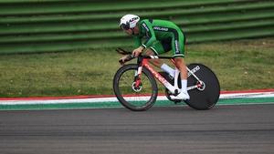 Nicolas Roche averaged48.8 kph on the Imola track to finish 31st
