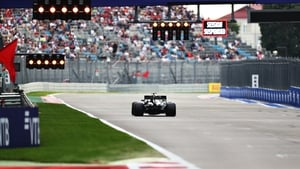Hamilton crossed the line with less then a second of qualifying time remaining