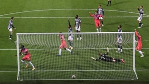 Tammy Abraham scores Chelsea's equaliser as West Brom players appeal for a handball against Kai Havertz that wasn't given