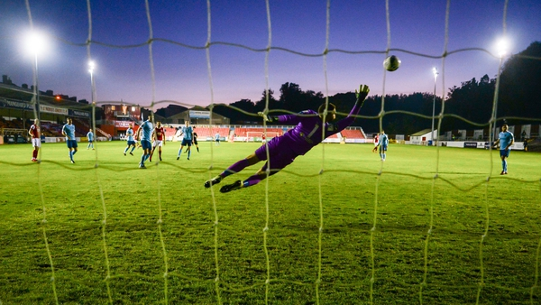 Chris Forrester's shot beats Shelbourne goalkeeper Colin McCabe