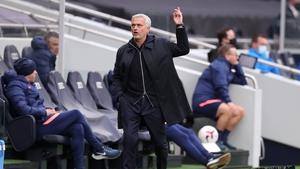 Tottenham boss Jose Mourinho was far from happy