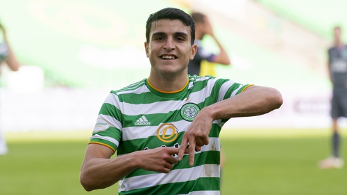 Mohamed Elyounoussi celebrates his goal