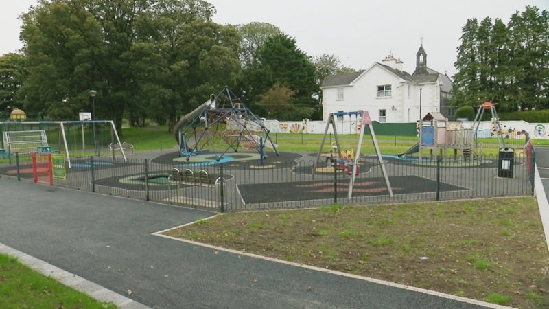 A forensic examination of the scene has taken place at a playground in the Lowpark area of Charlestown