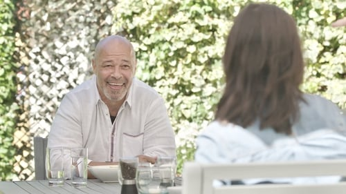 Paul McGrath with Lucy Kennedy