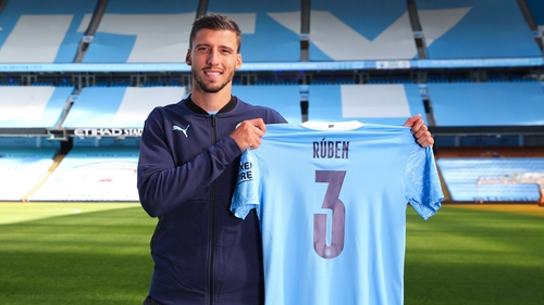 Ruben Dias has signed a six-year contract extension