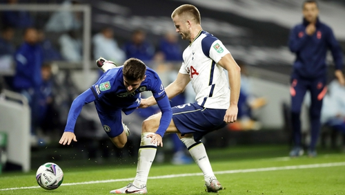 Nature called for Eric Dier (R)