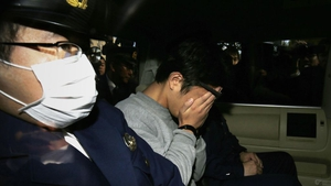 Takahiro Shiraishi being transported to the prosecutor's office from a police station in Tokyo in November 2017