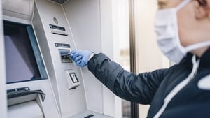 ATM transactions in August were 39% below the same month last year, new Central Bank figures show