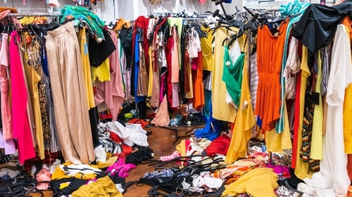 Mountains of garments are building up in sorting warehouses due to Covid-19