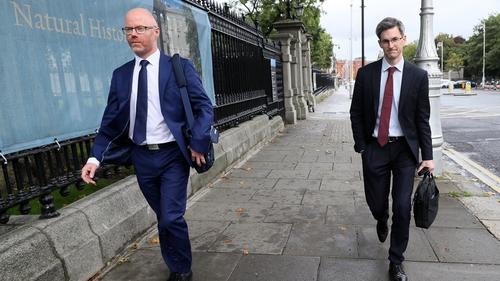 Stephen Donnelly and Dr Ronan Glynn were at Leinster House to face questions from the Oireachtas Special Committee on Covid-19 Response
