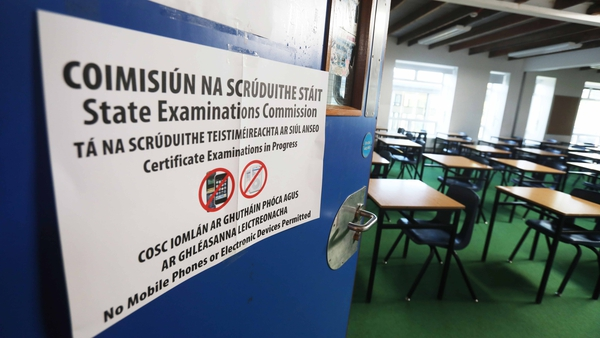 Exams are scheduled to begin on 9 June subject to public health advice (pic: RollingNews.ie)