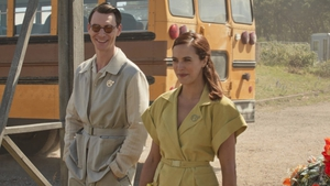 Harry Lloyd and Jessica Brown Findlay in Brave New World