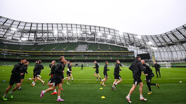 Dundalk are put through their paces at the Aviva Stadium