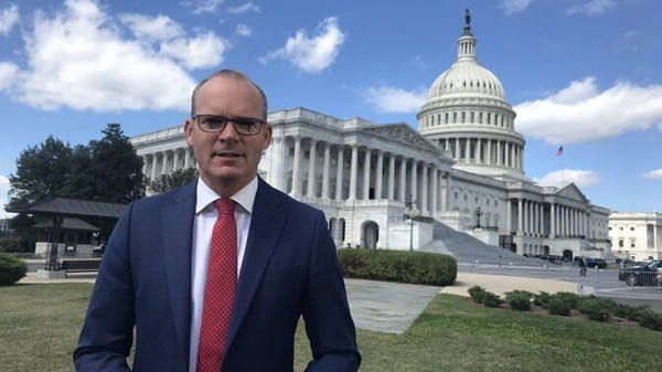 Minister Simon Coveney is meeting with representatives of the Trump administration and senior members of Congress