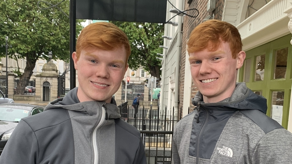 Aaron and Conor Daly were awarded identical calculated grades