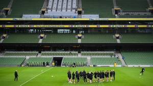 Dundalk trained at the Lansdowne Road venue on Wednesday