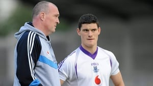 Pat Gilroy and Diarmuid Connolly before the 2011 All-Ireland football final