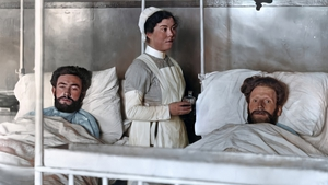 Hunger strikers recovering in Mountjoy, 1920, colourised by Matt Loughrey. Original image courtesy of the Irish Military Archives IE-MA-BMH-CD-208-2-11
