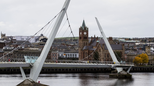 New restrictions will come into effect in Derry (above) and Strabane on Monday
