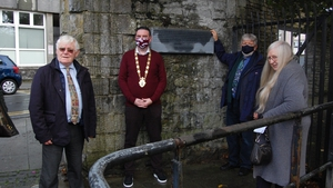 The plaque was unveiled at Newtownsmith, on the River Walk in the city