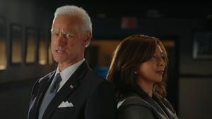 Jim Carrey as Joe Biden and Maya Rudolph as Kamala Harris on SNL
