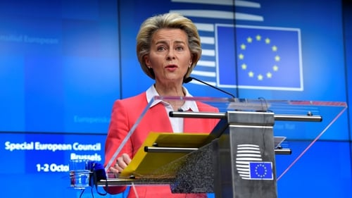 Ursula von der Leyen said they were running out of time to agree a trade deal