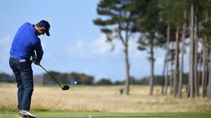 Padraig Harrington tees off on the second hole on Friday