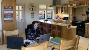 Clare Nolan working from home