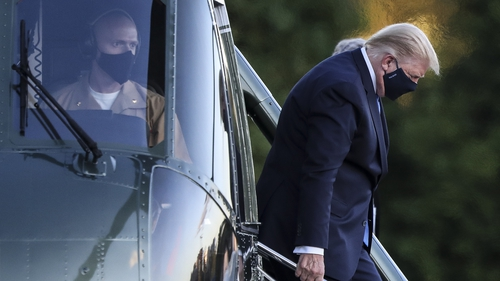 US president Donald Trump checks into the Walter Reed National Military Medical Center for Covid-19 treatment