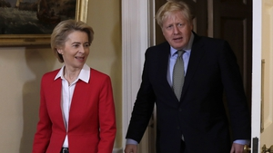 Ursula von der Leyen and Boris Johnson spoke by phone (file image)