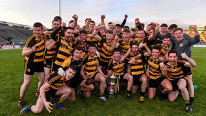 Crosserlough players celebrate after their replay win over Kingscourt