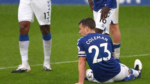 Seamus Coleman was injured yesterday