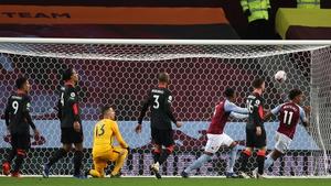 Ollie Watkins of Aston Villa scores a goal to make it 4-1