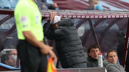 Klopp's frustration was evident at Villa Park