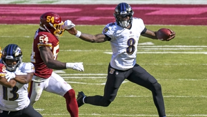 Lamar Jackson has surpassed Michael Vick to become the fastest player in NFL history to eclipse 5,000