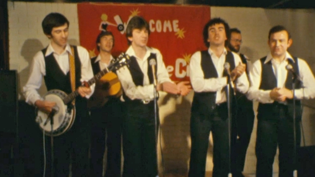 Band perform at the No Name Club in Kilkenny (1980)