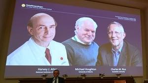 L-R: Harvey Alter, Michael Houghton, Charles Rice