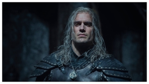 Henry Cavill sporting his new armour as Geralt of Rivia