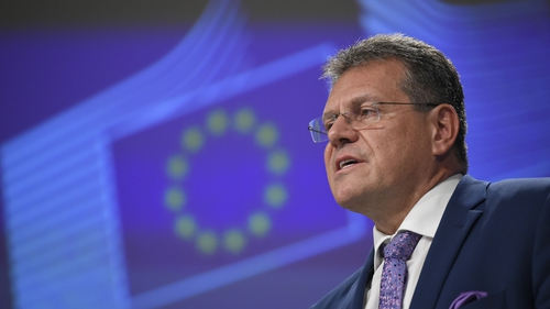 Commission vice-president Maros Sefcovic is due in London for talks tomorrow