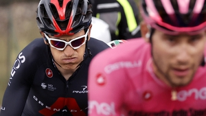 Geraint Thomas pedals through the pain on the third stage of the Giro d'Italia