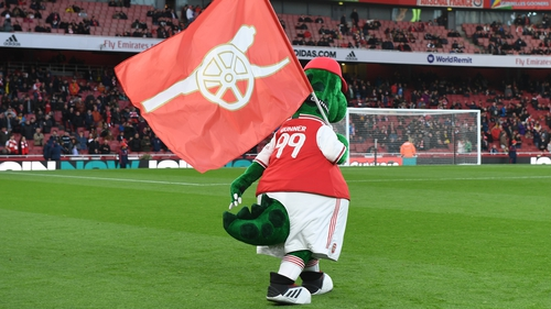 Arsenal haven't turned their backs on Gunnersaurus, but Jerry Quy's future with the club has yet to be clarified