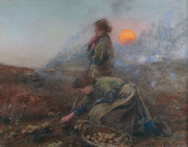Charles MacIver Grierson, Potato Diggers in the West, 1903, pastel on paper, 51 x 66 cm. Collection Crawford Art Gallery, Cork