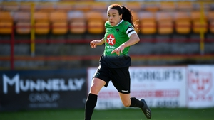 Áine O'Gorman scored twice for Peamount United in their 3-2 win over DLR Waves