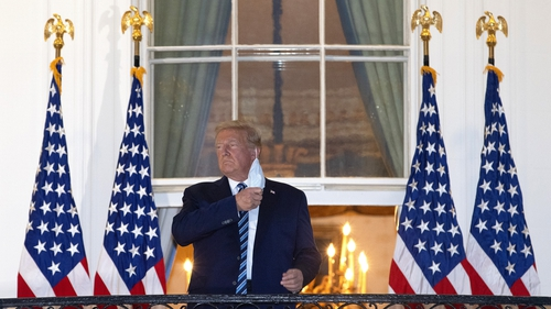 President Trump was hospitalised on Friday after tests showed he had contracted Covid-19