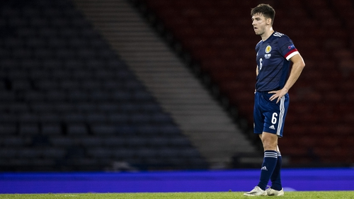 Kieran Tierney has been forced to self-isolate for 14 days after being in close contact with Southampton's Stuart Armstrong