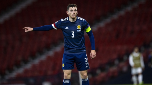 Andy Robertson captained Scotland to a 1-1 draw against Israel in the Nations League last month